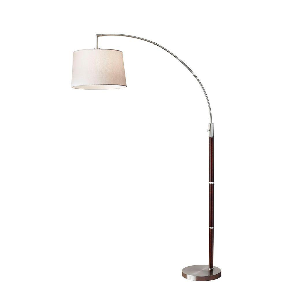 Adesso alta 80 in brown arc floor lamp 7208 15 the home depot brown arc floor lamp mozeypictures Image collections