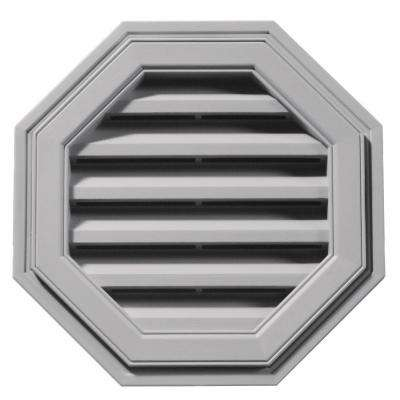 18 in. Octagon Gable Vent in Gray