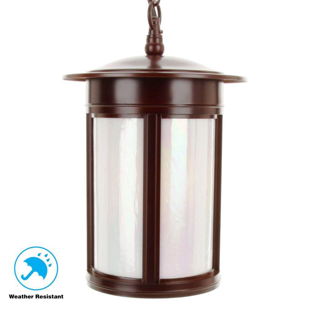 3-Light Outdoor Hanging Lantern Oil Rubbed Bronze