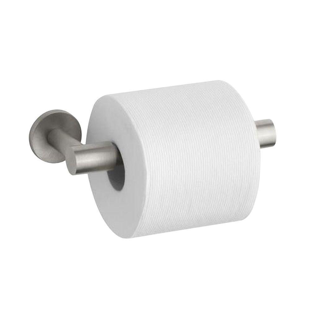 KOHLER Stillness Double Post Toilet Paper Holder in Vibrant Brushed Nickel