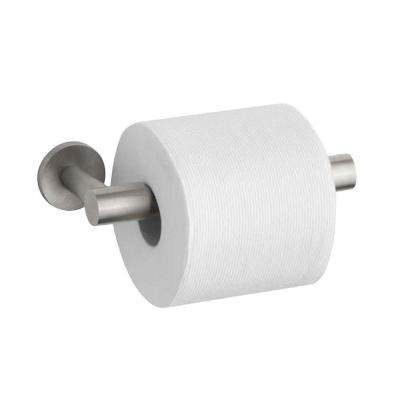 Stillness Double Post Toilet Paper Holder in Vibrant Brushed Nickel