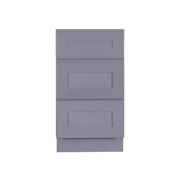 Shaker Assembled 21 in. W x 21 in. D x 33 in. H Vanity Cabinet Only with 3 Drawers in Gray