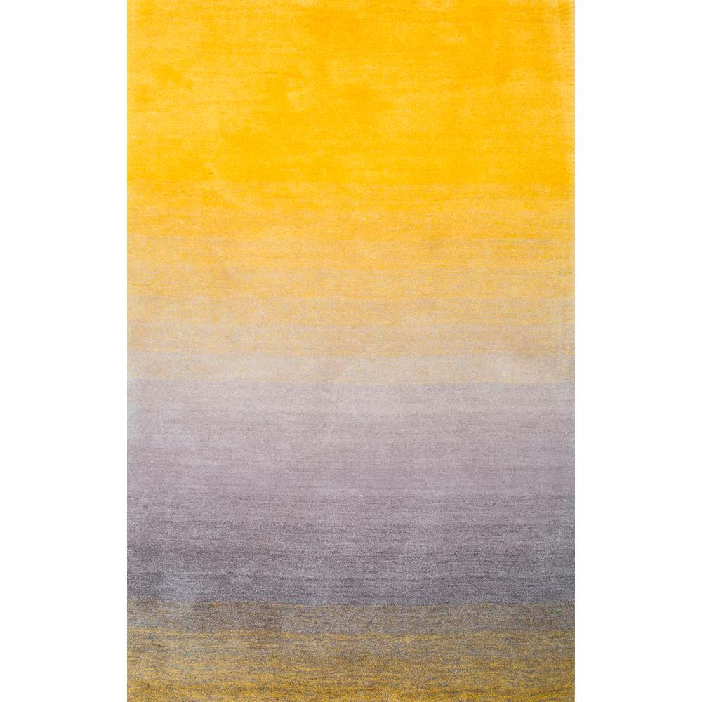 Nuloom Ombre Shag Yellow 6 Ft X 9 Ft Area Rug Hjos01a