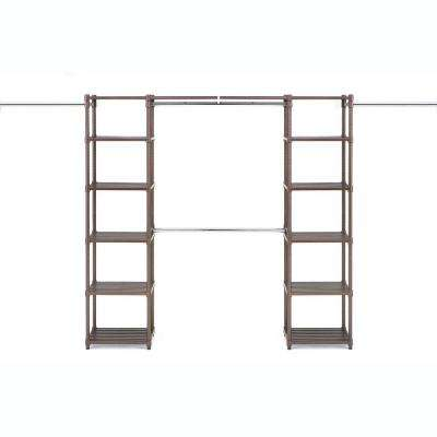 14 in. D x 74 in. W x 72 in. H Bronze Expandable Resin Closet System Organizer