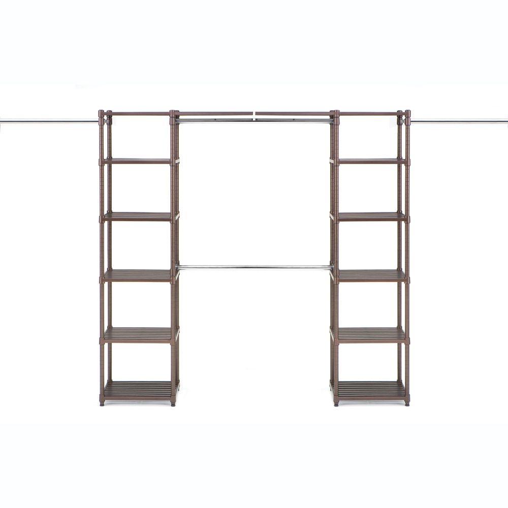 Resin Slat Expandable Closet Organizer System