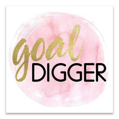 """Goal Digger"" by Nikki Chu Embellished Canvas Wall Art"