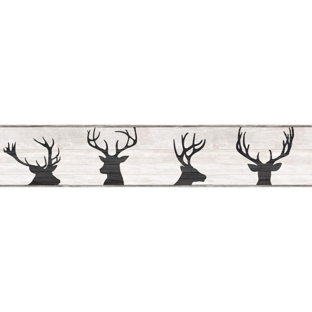 York Wallcoverings Deer Silhouette Wallpaper Border Lg1460bd The
