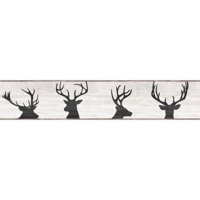 Deer Silhouette Wallpaper Border