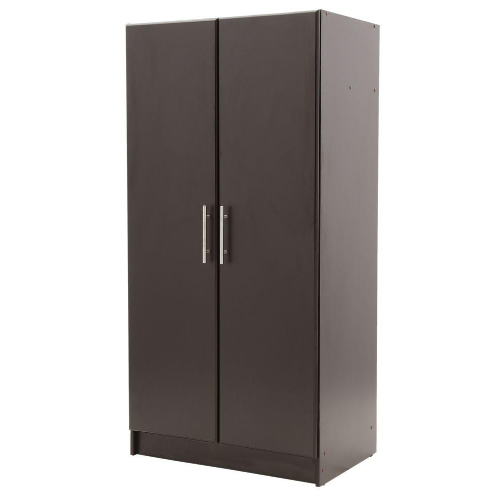 hamptonbay Hampton Bay 65 in. Wardrobe Cabinet in Espresso, Brown