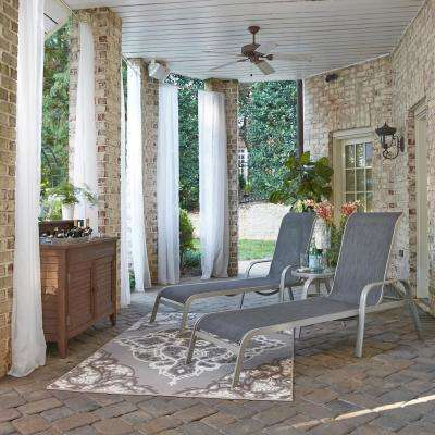 South Beach Gray 2-Piece Aluminum Outdoor Chaise Lounge