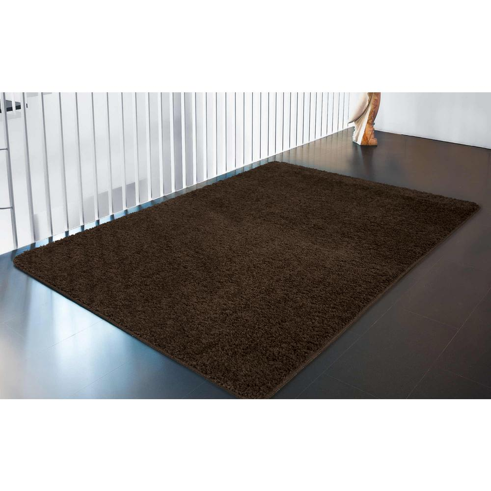 ottomanson luxury shaggy collection shag solid design brown 5 ft x rh homedepot com