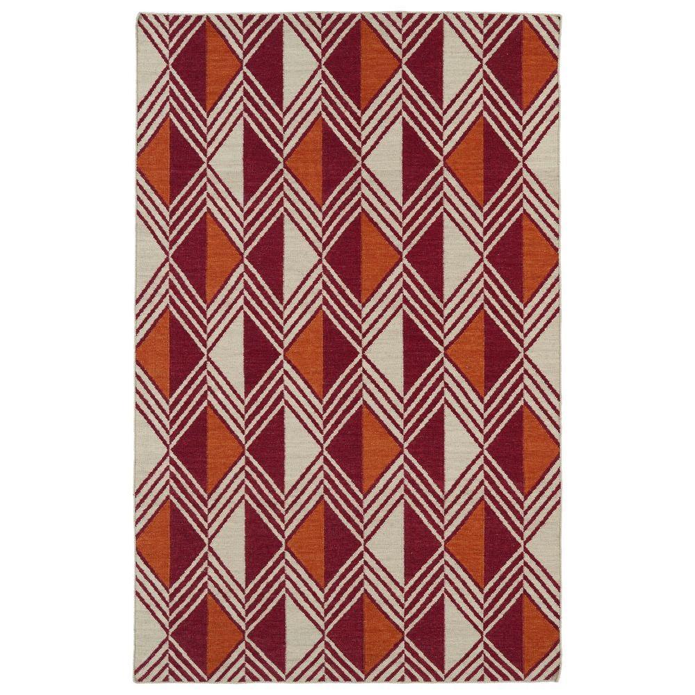 Kaleen Nomad Red 8 ft. x 10 ft. Area Rug