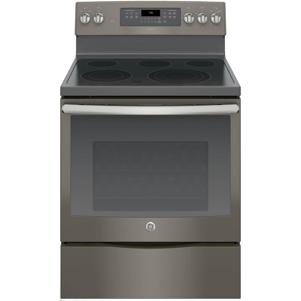 Ge Adora 5 3 Cu Ft Electric Range With Self Cleaning Convection Oven In