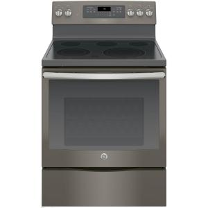 Click here to buy GE Adora 5.3 cu. ft. Electric Range with Self-Cleaning Convection Oven in Slate, Fingerprint Resistant by GE.
