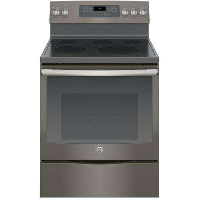 Adora 5.3 cu. ft. Electric Range with Self-Cleaning Convection Oven in Slate, Fingerprint Resistant
