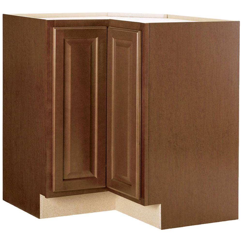 Hampton Bay Hampton Assembled 28.5x34.5x16.5 in. Lazy Susan Corner ...