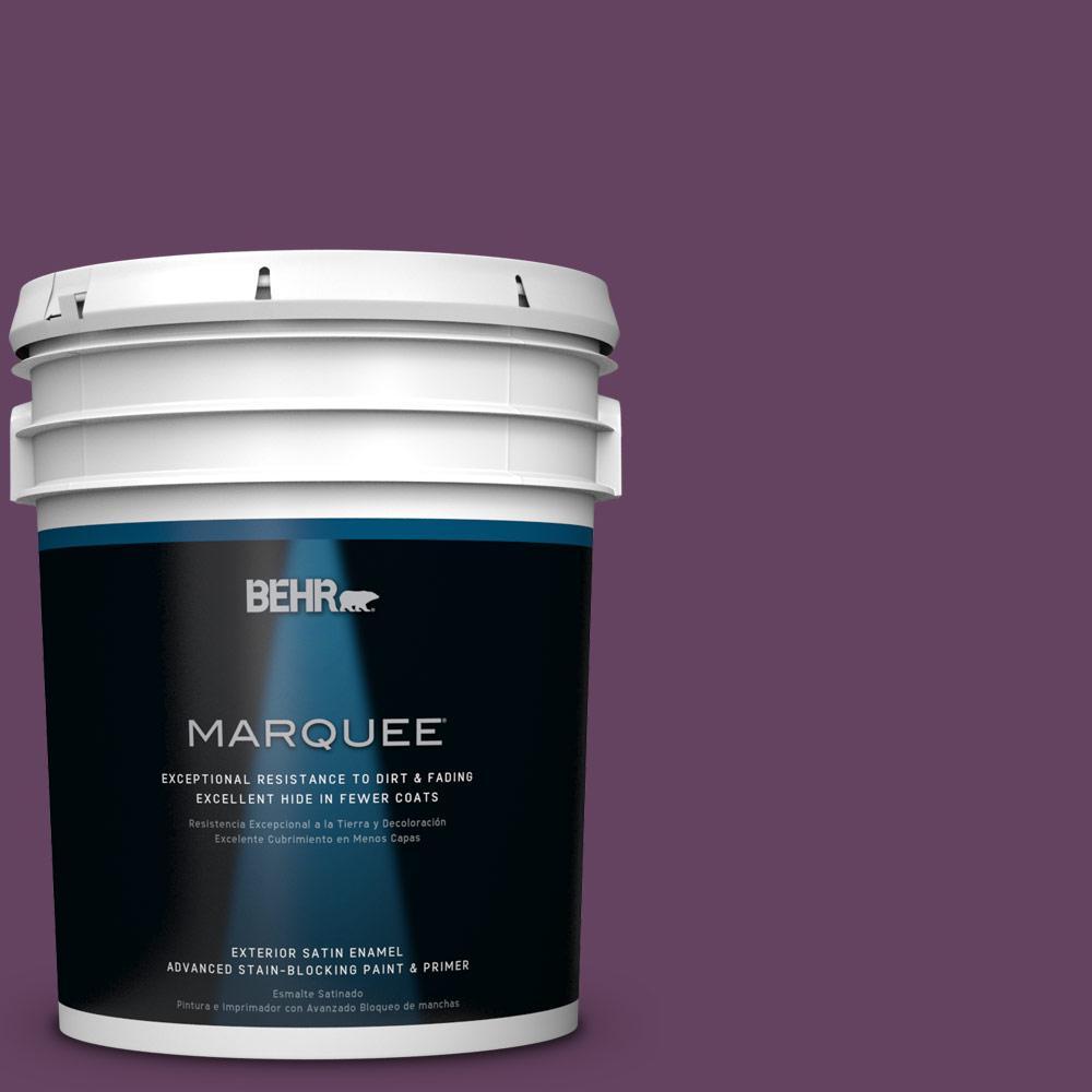 5-gal. #BIC-36 Grape Fizz Satin Enamel Exterior Paint