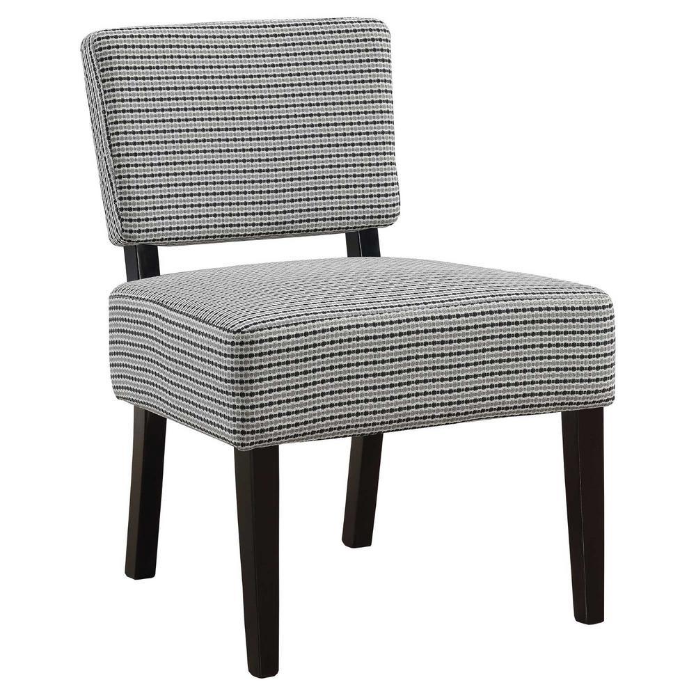 Jasmine Light Grey/ Black Foam Accent Chair