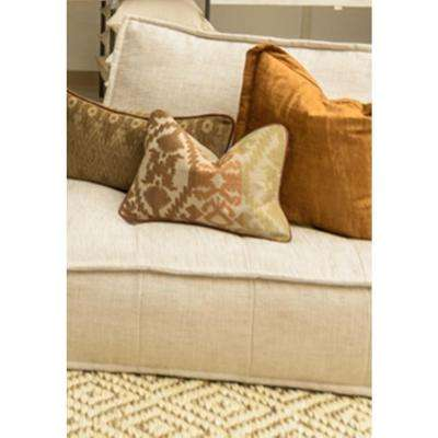 Carrara Root Linen 14 in. x 20 in. Rectangle Pattern Decorative Pillow