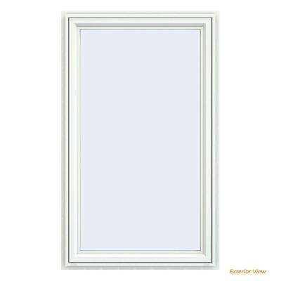 35.5 in. x 59.5 in. V-4500 Series White Vinyl Right-Handed Casement Window with Fiberglass Mesh Screen