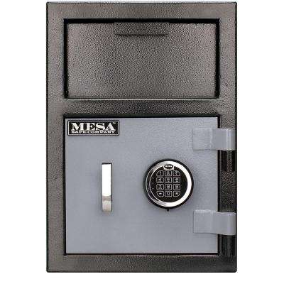 0.8 cu. ft. All Steel Depository Safe with Electronic Lock in 2-Tone, Black Grey