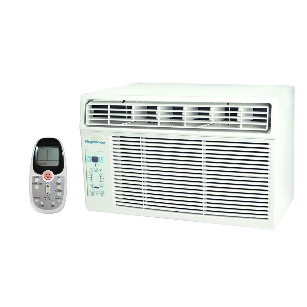 Keystone 12,000 BTU 115-Volt Window-Mounted Air Conditioner with Follow Me LCD Remote Control, ENERGY STAR