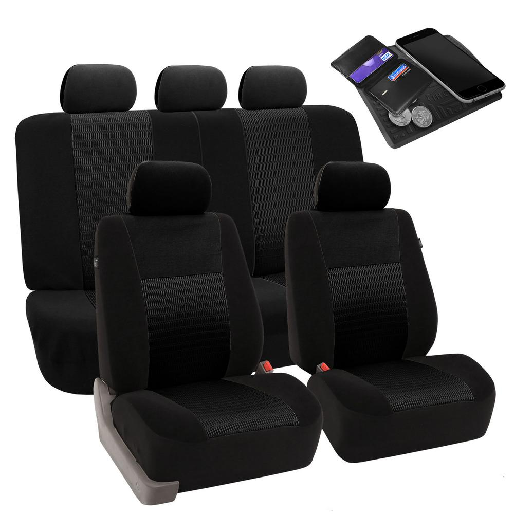 FH Group Fabric 47 in. x 23 in x 1 in. Deluxe 3D Air Mesh Full Set Seat Covers