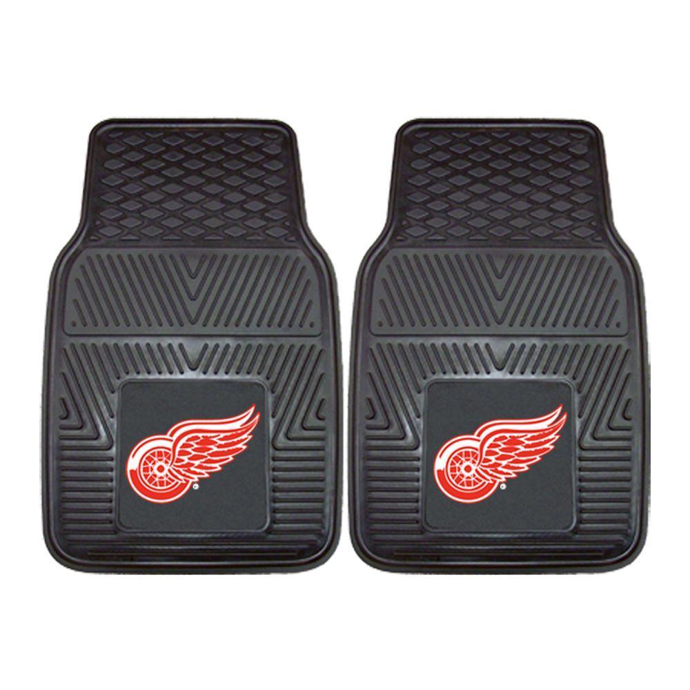 Detroit Red Wings 18 in. x 27 in. 2-Piece Heavy Duty Vinyl Car Mat