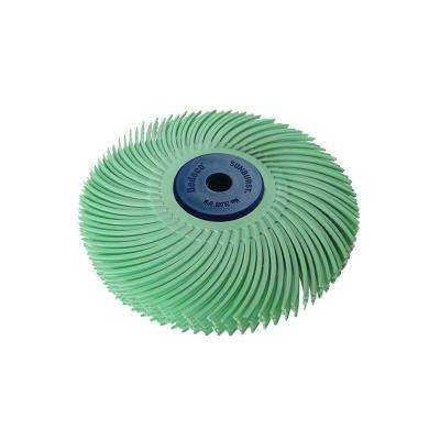 Sunburst 3 in. 6-Ply Radial Discs 1/4 in. 1 mic U-Fine Arbor Thermoplastic Cleaning and Polishing Tool