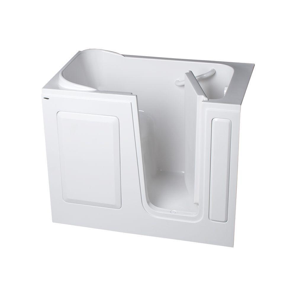 American Standard Gelcoat Standard Series 48 in. x 28 in. Walk-In Soaking Bathtub in White