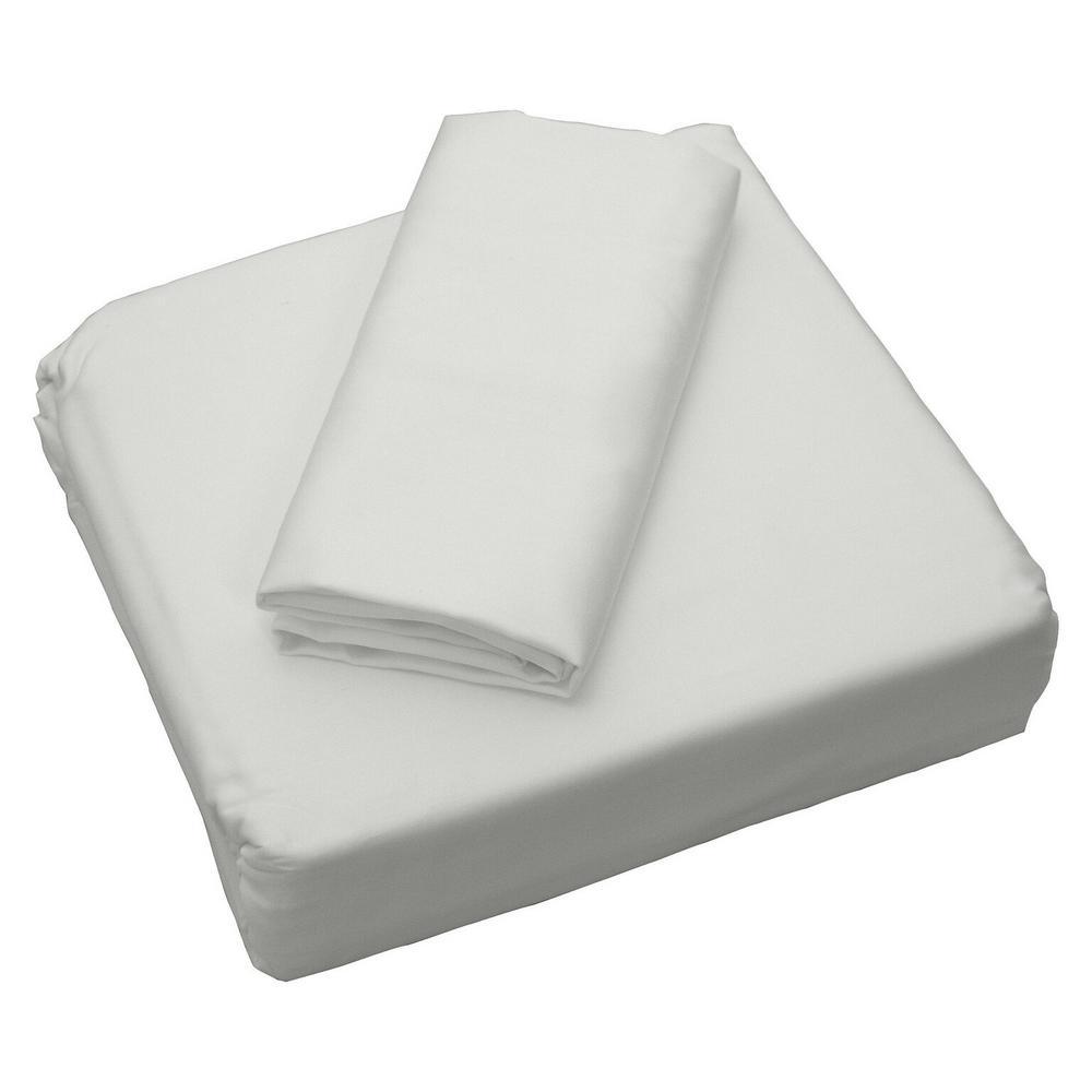 Coolmax White 300 Thread Count Queen Sheet Set