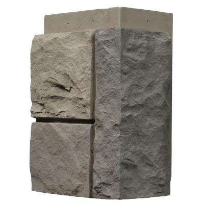 Random Rock Tri Gray 11 in. x 7 in. Faux Stone Siding Corner (4-Pack)