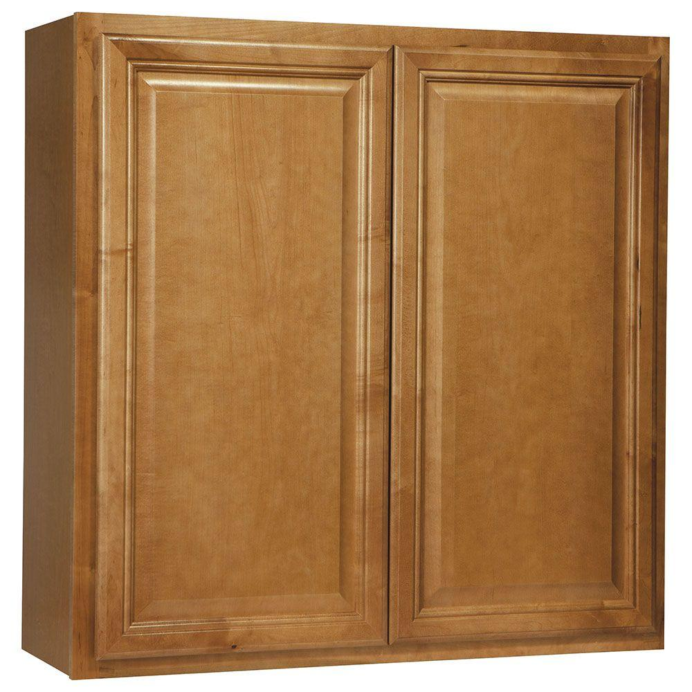 Hampton Bay Cambria Assembled 36x36x12 in. Wall Kitchen Cabinet in Harvest