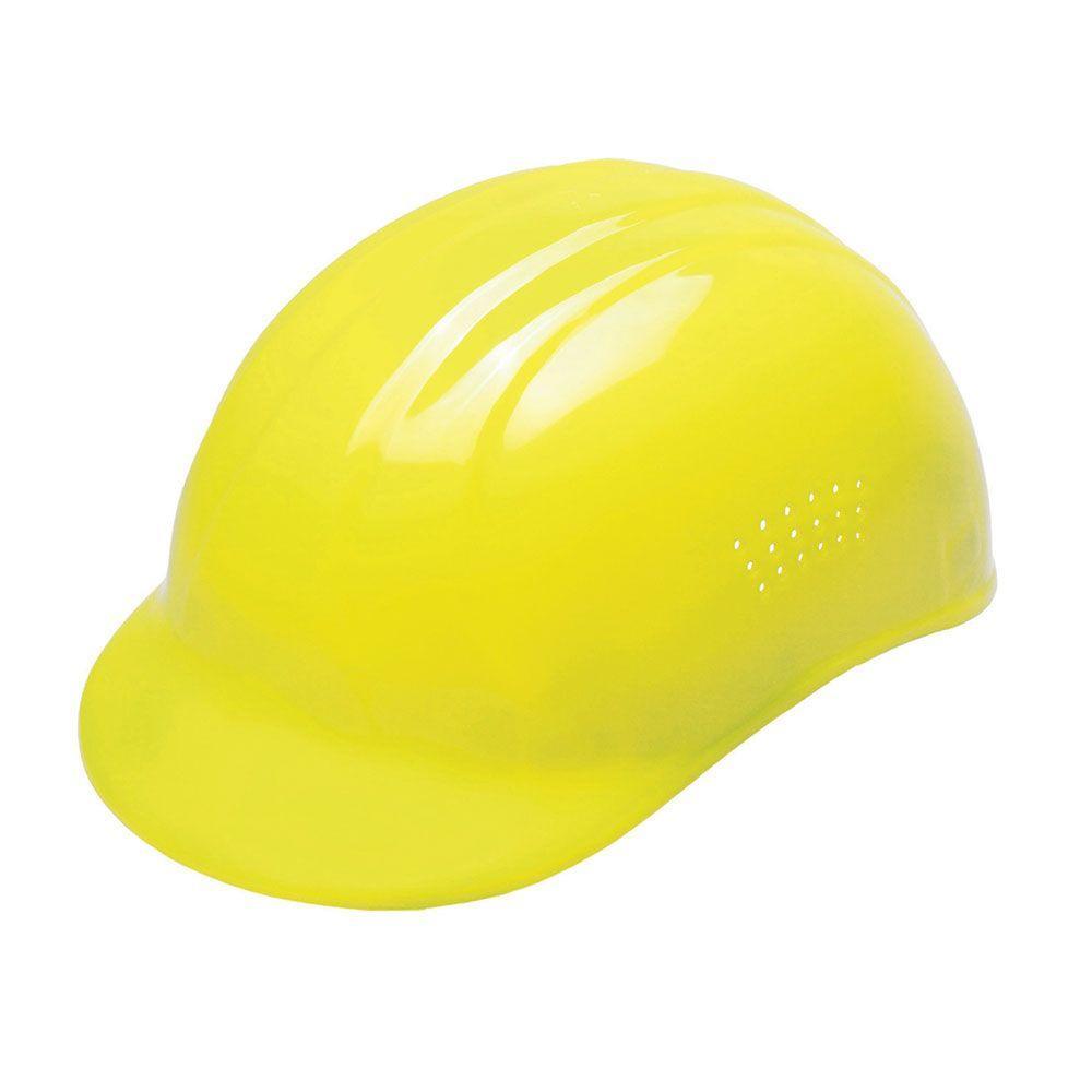 4-Point Plastic Suspension Pin-Lock 67 Bump Cap in Hi-Viz Yellow
