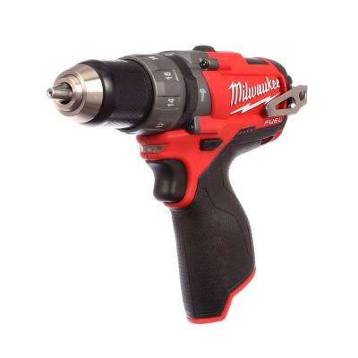 M12 FUEL 12-Volt Cordless Brushless 1/2 in. Hammer Drill and Driver (Tool-Only)