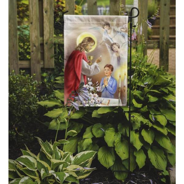 Caroline S Treasures 11 In X 15 1 2 In Polyester First Communion Boy 2 Sided 2 Ply Garden Flag Aph7584gf The Home Depot