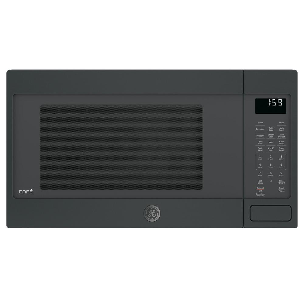 1.5 cu. ft. Countertop Convection Microwave in Black Slate, Fingerprint