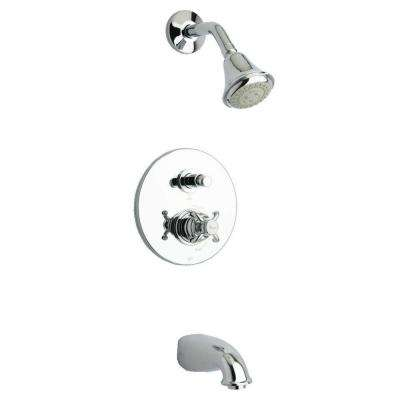 Ornellaia Single-Handle 1-Spray Tub and Shower Faucet in Chrome