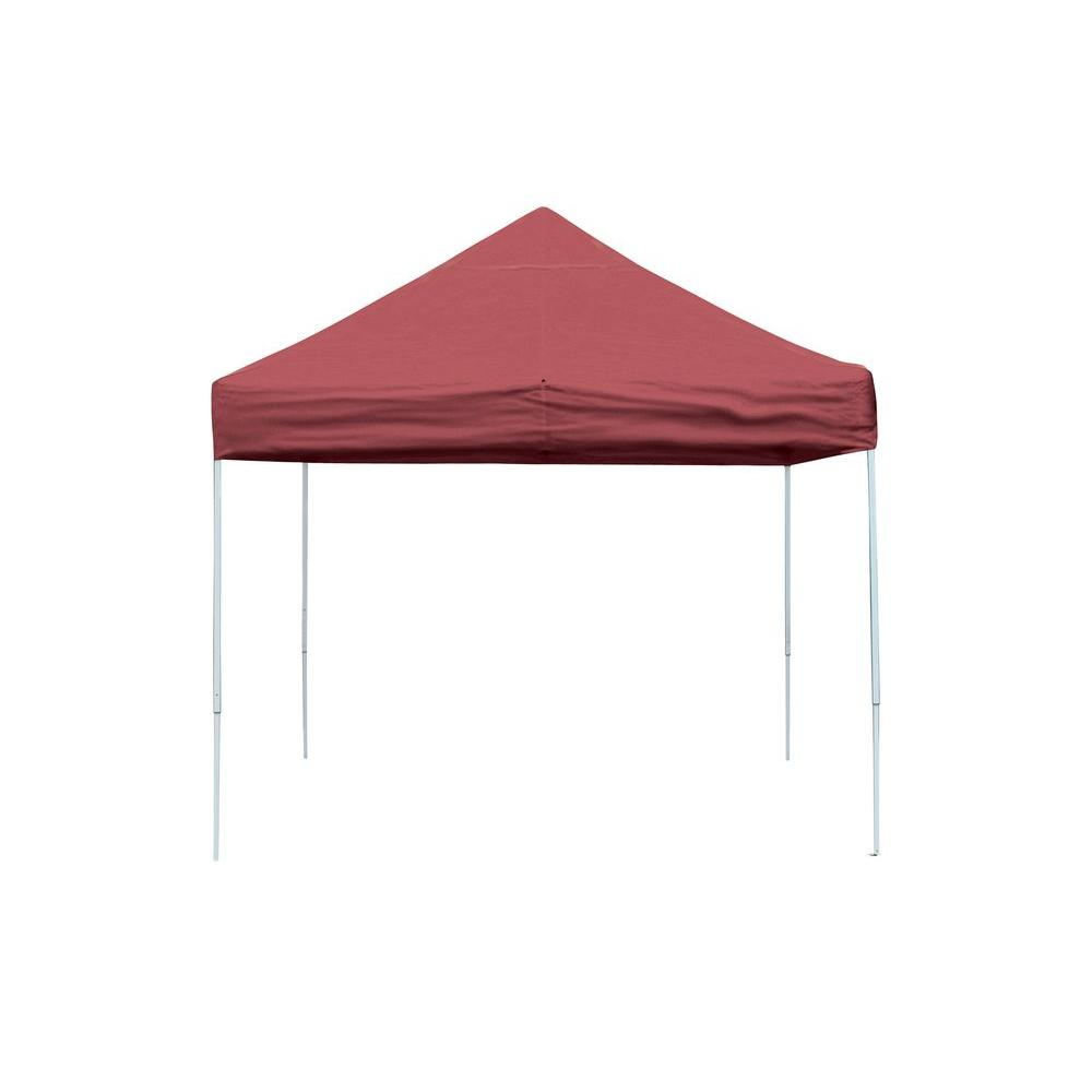 ShelterLogic Pro Series 10 ft. x 10 ft. Red Straight Leg Pop-Up  sc 1 st  The Home Depot & ShelterLogic Pro Series 10 ft. x 10 ft. Red Straight Leg Pop-Up ...