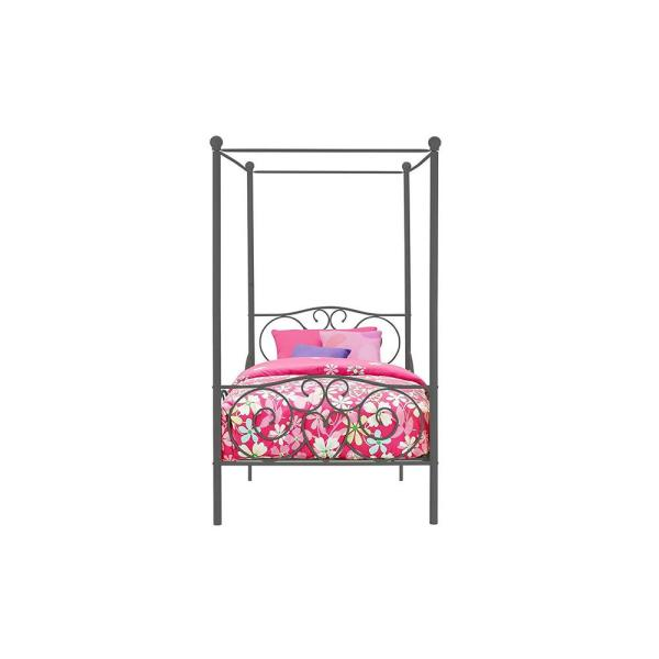DHP Pewter Twin Canopy Bed 4020959
