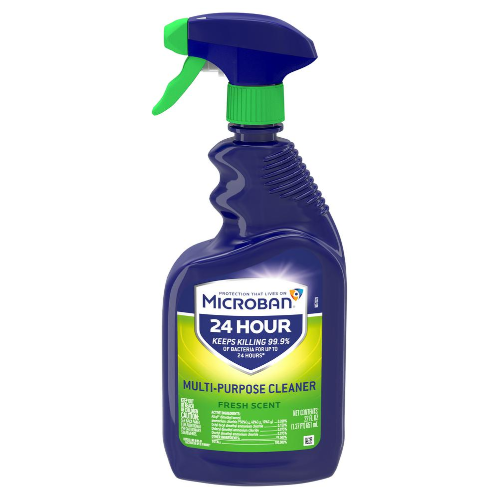 Microban 24-Hour 32 oz. Fresh Scent All-Purpose Cleaner Spray