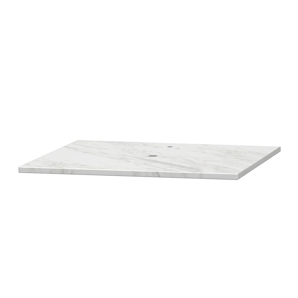 Centra 24 in. W x 19 in. D Marble Vanity Top