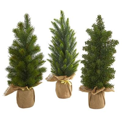 Indoor 15 Mini Cypress and Pine Artificial Tree (Set of 3)