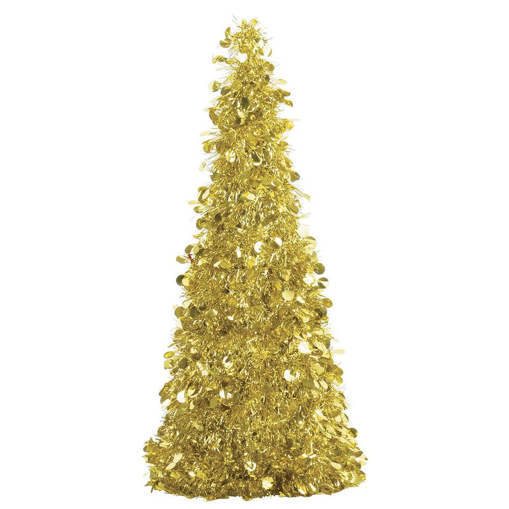 Amscan 18 In Gold Tinsel Tree Centerpiece 2 Pack 240594 The