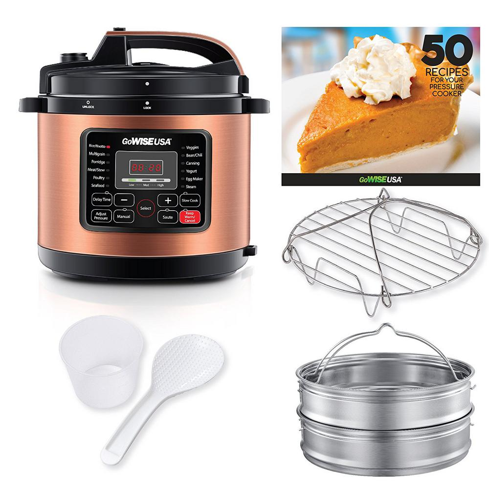 12.5 Qt. Electric Pressure Cooker with 12 Presets (Copper)