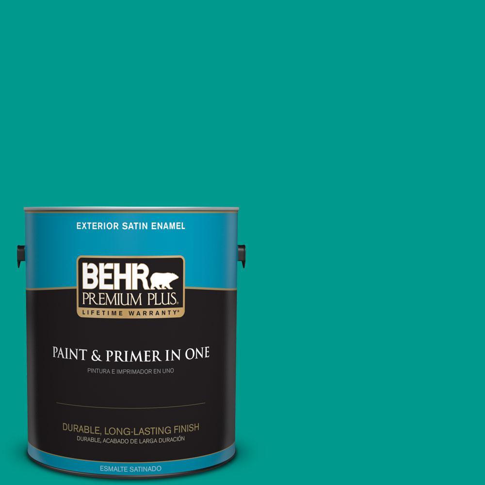 BEHR Premium Plus 1-gal. #P450-6 Tropics Satin Enamel Exterior Paint