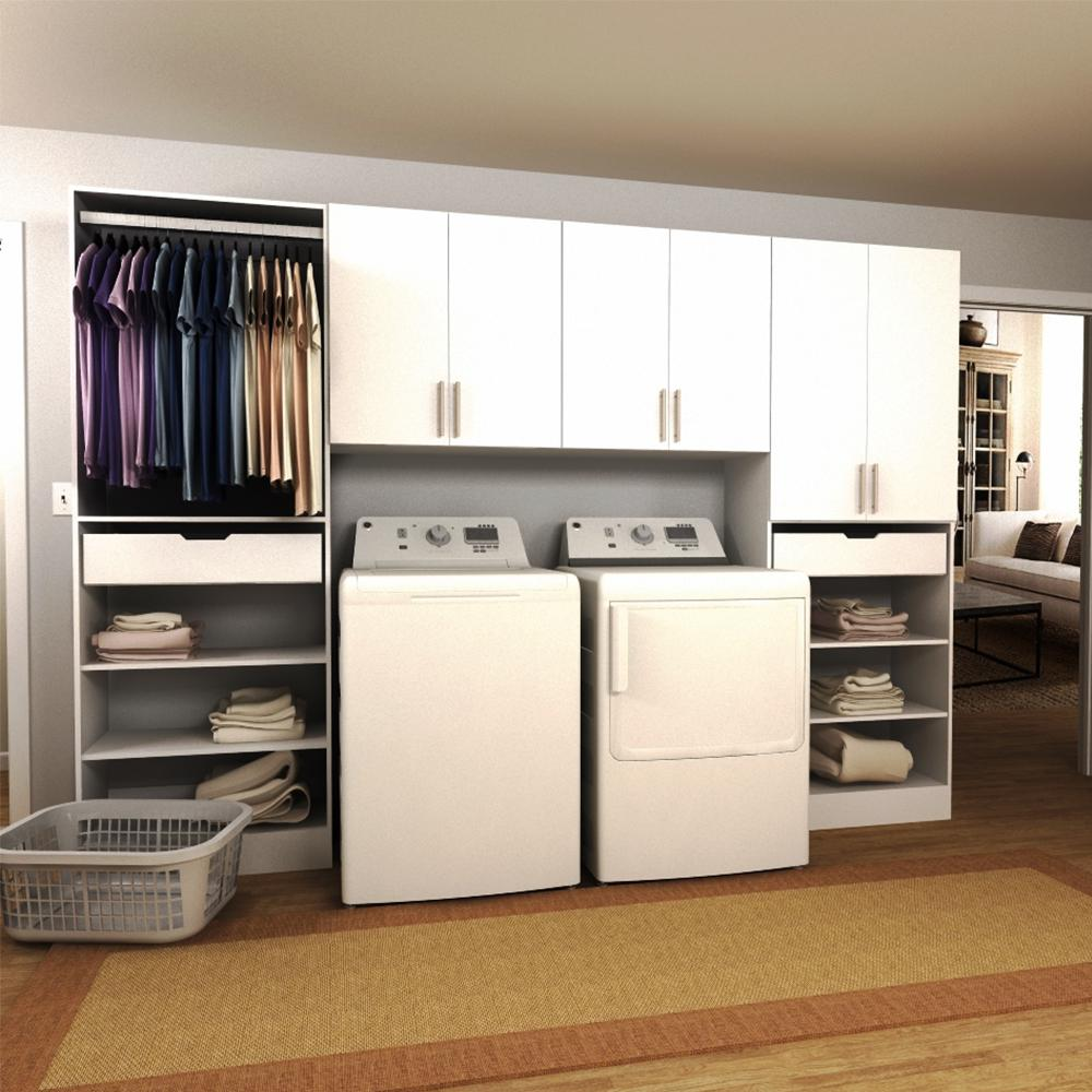 laundry room storage cabinets modifi horizon 120 in w white tower storage laundry 22537