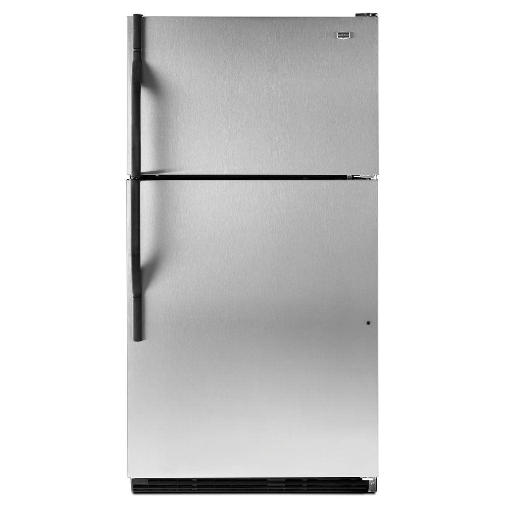 Maytag 20.6 cu. ft. Top Freezer Refrigerator in Stainless Steel
