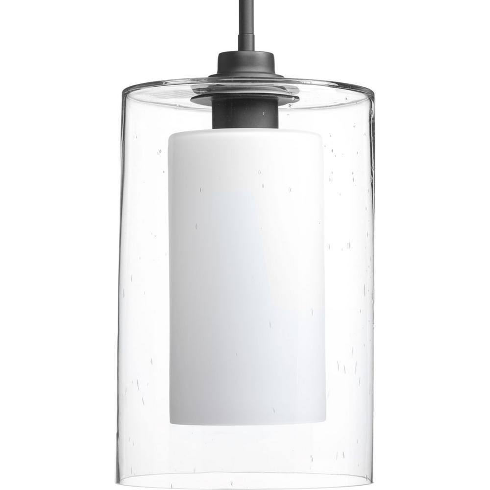 Double Glass Collection 1 Light Graphite Pendant