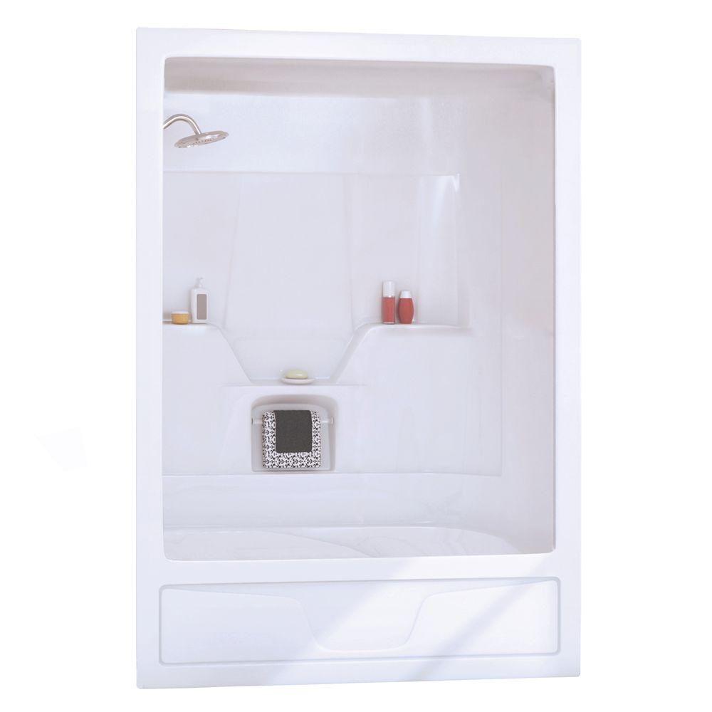 MAAX ASTM 31 in. x 60 in. X 85 in. Three Piece Direct-to-Stud Tub Wall in White